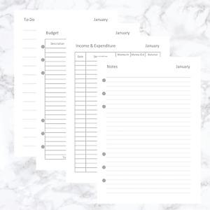 A5 ORGANISER FILOFAX KIKKI COMPATIBLE PLANNER JOURNAL REFILL BUDGET PLANNER BL