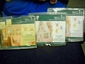 Lot of 3 - Wallies Wallpaper Cutouts - Fairies/Floral - Opened