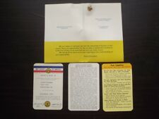 1967 BOY SCOUTS COMMITTEEMAN MEMBERSHIP CARDS & PIN - PACK 119 LEWISTON PA