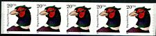 Ring-Necked Pheasant Self-Adhesive Coil Strip of 5 PNC5 Pl 1111 MNH Scott's 3055