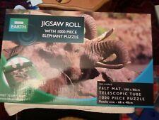 BBC JIGSAW ROLL AND ELEPHANT PUZZLE 1000* PIECES;TELESCOPIC TUBE FELT MAT