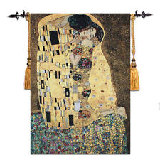 "Huge Klimt the Kiss (Golden Version) Fine Art Tapestry Wall Hanging, 35""x55"", US"
