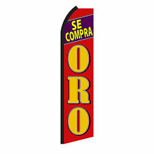 Se Compra Oro Advertising Sign Swooper Feather Flutter Banner Flag Only
