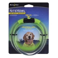 "Nite Ize NiteHowl LED Safety Necklace Green Dog Collar 12""-27"" Weather Resistant"