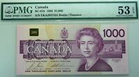 1954 $1000  Bank of Canada PMG AU 53 - ALMOST UNCIRCULATED