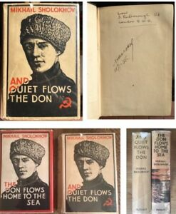 And Quiet Flows The Don, Signed By Mikhail Sholokhov, 1934, 2 Vols, 1st Editions