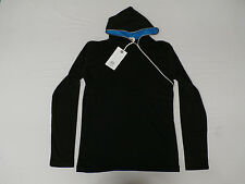 Grin&Bear Men's Zipped Long Sleeve Hoodie Black Size XL BH135 NWT