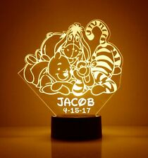 Winnie the Pooh & Tigger FREE LED Night Light Lamp with Remote Control Light