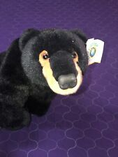 "Rare Orvis Conservation Collection Plush Black Bear Stuffed Animal Tag 12"" X 19"""