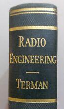 Radio Engineering Terman 2nd Ed valve tube wireless broadcasting circuits QRP