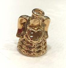 NEW Genuine Pandora Gold Angel Charm 750999 14ct Spiritual Love Arch Guidance YG