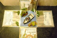 A handmade one of a kind 3D fishing  themed exploding box keepsake card