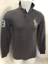 Polo Ralph Lauren Pig Pony Custom Fit Mesh Mens Long Sleeve Polo-Shirt, XS