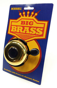 """Mirrycle Incredibell Big Solid Brass Bicycle Bell - Melodic """"Ring-Ring"""" Sound"""