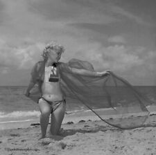 1959 Bunny Yeager Pinup Camera Negative Flirty Bottled Blonde Cheesecake Pose NR
