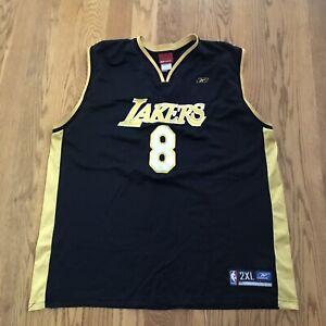 Reebok Kobe Bryant Mens 2XL NBA Jersey Black Alternate Los Angeles Lakers 8