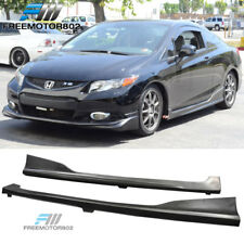 Fit Honda Civic Coupe 2Dr 2012-2015 H Style PU Polyurethane Side Skirts Pair