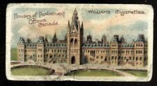Tobacco Card,W Williams,INTERESTING BUILDINGS,1912,Houses Parliament Canada,#24