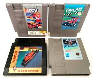 Nintendo NES-Lot of 4 Video Games-Rad Racer, NASCSR, R.C. Pro-Am, Super Sprint