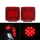 2x Square LED Submersible Lights Trailer Tail Boat Stud Mount 80 DOT approved