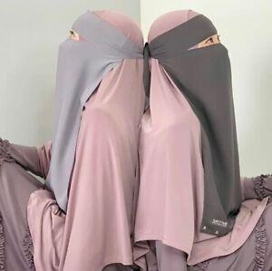 Verschiedene Farben Malaysian Niqab einlagig; Hijab, Schleier, Burka, Niqabi