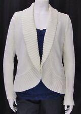 Talbots sz Large Ivory Long Sleeve Cotton Angora Blend Cocoon Cardigan Sweater