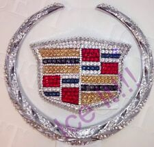 Cadillac Escalade Front Hood Multi Color Bling Emblem Madewith Swarovski Crystal