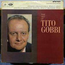 TITO GOBBI the art of 2 LP VG+ PASD 606 607 EMI Odeon UK 1964 Stereo Arias