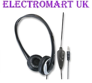 MONO STEREO  TV TELEVISION HEADPHONES LONG LEAD 5M CABLE IN LINE VOLUME CONTROL