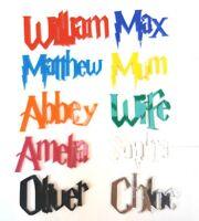 Letras De Acrílico De Harry Potter Muchos Colores y Tamaños Placa Pared Arte Cartel De La Puerta Tarjeta