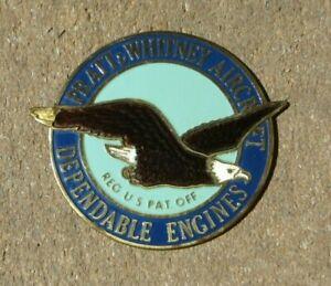 Vintage Enamel Emblem Pratt Whitney Dependable Engines USA Badge