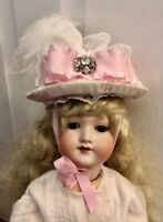 Hat for Antique French or German Bisque Doll Head  Doll Not Included