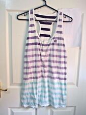 Nike Athletico Vest top singlet running Gym Sports Size L Purple stripes