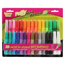 Puffy Paint Mini Writers Markers Pen 30 Pack Assorted Colors IloveToCreate 31946