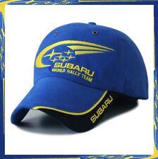 SUBARU F1 Auto World Team Race Baseball Cap Casquette WRX IMPREZA BLEU