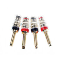 4 Pcs Amplifier Speaker Cable Terminal Binding Post 4mm Banana Socket Connector