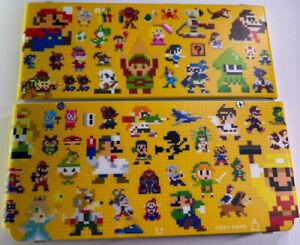 New Nintendo 3DS Super Mario Mario Maker Sprites Kisekae Face Cover Plates Set