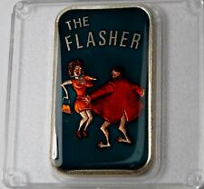 The Flasher 1 Oz .999 Silver Bar Enameled Super Rare The Mint