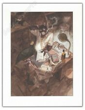 Ex-libris GUARNIDO Blacksad Le bureau  18x23