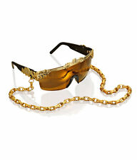 H&M ANNA DELLO RUSSO GOLD TINTED SUNGLASSES WITH CHAIN BNIB NEW maison hm