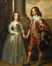 Oil Anthony van Dyck William II, Prince of Orange and Princess Hand painted