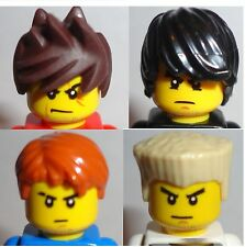 LEGO Set/ 4 MINIFIG HAIR - Ninjago Ninja Zane Kai Jay And Cole New LOT Parts
