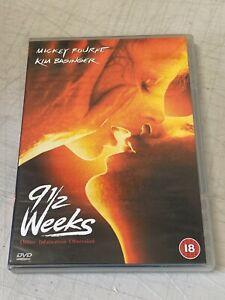 Nine & A Half Weeks DVD 9 1/2 Classic Erotic Drama w/ Mickey Rourke REGION 2