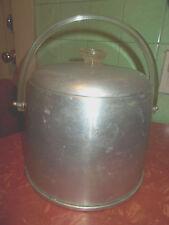 Vintage-Modern Era- Kromex Ice Bucket Aluminum Lucite Handles