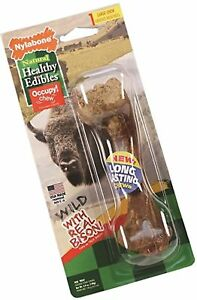 Nylabone Healthy Edibles Wild Flavors Dog Chew Treat Bones for Large Dogs up ...