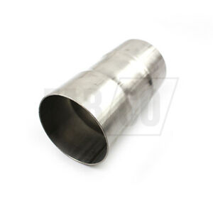 Universal Exhaust Pipe Connector Stainless Steel Reducer Adapter Swaged to I.D