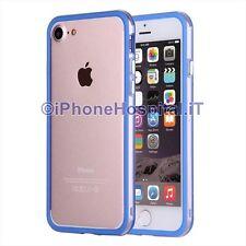 "Custodia Bumper Blu Bordo Trasparente per Apple iPhone 7 4,7"""