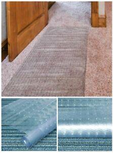 "Clear Carpet Floor Protector Mat Runner Guard Home Office Plastic Sheet 27"" Wide"