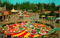 Vtg 1960s Disneyland Postcard Fantasyland Mad Hatter's Tea Party Teacups 1-315