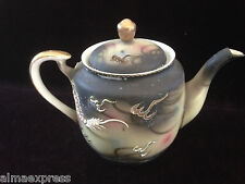 TMK China Japan Dragonware Black / Gray Embossed Moriage Dragon - TEA POT